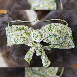 Victoria's Secret Green & White  Floral Swim Top